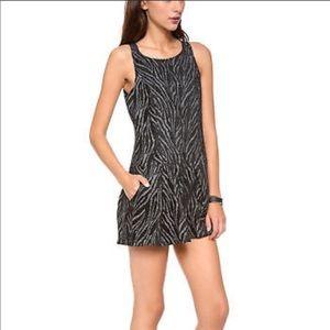 Free People Chenille Zebra Drop Waist Dress